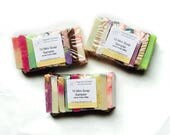 Handcrafted Soap Sample Set | Travel Size Toiletries | Soap Sampler | Artisan Soap | Handmade Soap | Guest Soaps | Kids Bath Soap