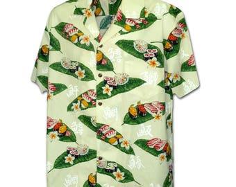 Sushi Surprise in Paradise Cream Pacific Legend Hawaiian Aloha Shirt 410-3950