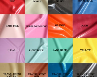 Sheet Latex/Rubber by Continuous Metre, Qtr or Half Metre - 1m Width, 0.25mm Gauge - Main Colours - UK SELLER