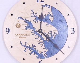 "Annapolis, Maryland 12"" Clock"