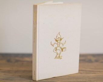 Coffee Table Book, Faeries Book, Vintage Art Book, Neutral Decor, Fairies Theme, Nursery Shelf Decor, Shelf Accessories, Gold Nursery