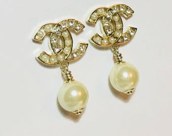 Chanel Earrings with Pearls and Stones