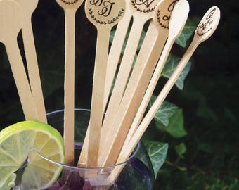 set of 40 wedding cocktail Stirrers