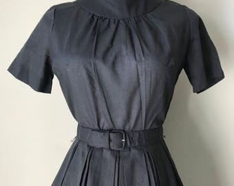 1960s Fit and Flare Little Black Dress