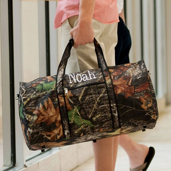 Camouflage Duffle Bag, Monogrammed Camo Duffel Bag, Camo Overnight Bag, Monogrammed Gift, Gifts for Boys, Personalized Gift, Gift for Hunter