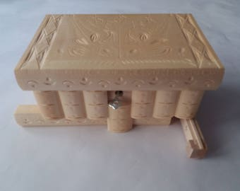 Wooden jewelry box magic box mystery box puzzle box new big natural secret box tricky box handcarved wooden Box home decor perfect gift