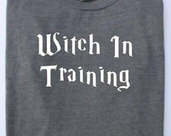 Witch In Training, Wiccan Shirt, Pagan Shirt, Halloween Shirt
