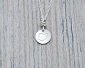 Tiny Ohio Charm Necklace