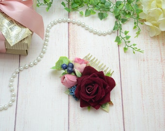 Bridal hair comb Wedding hair comb Bridal hair piece Floral hair comb Bridesmaid hair comb Hair accessory Wedding comb Bridal accessories