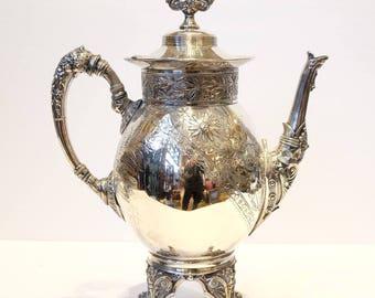 Victorian Silver Plate Coffee Pot - Meriden Co. Coffee Pot