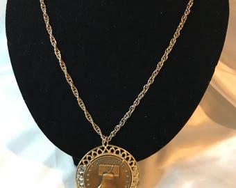 Bicentennial, Liberty Bell, 1776-1976, History, Memorabilia, Pendant,  Medallion Necklace