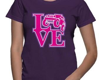 JEEP LOVE - JEEP  Ladies Tee