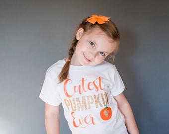 Cutest Pumpkin Shirt - Pumpkin Patch Shirt - Pumpkin Picking Shirt - Fall Shirts - Autumn Shirt - Girl Pumpkin Shirt - Girls Fall Shirt