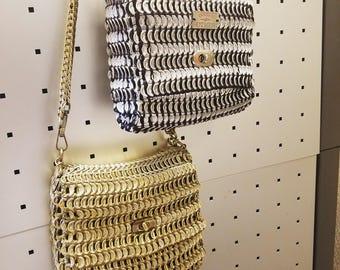 Flap and Lock hand bag | Handmade | Soda Tabs | Made to order