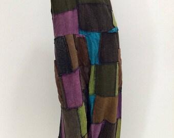 Colorful Patchwork Hippie Harem Jumpsuit (JS-571)