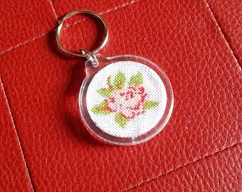Beautiful Rose Keychain