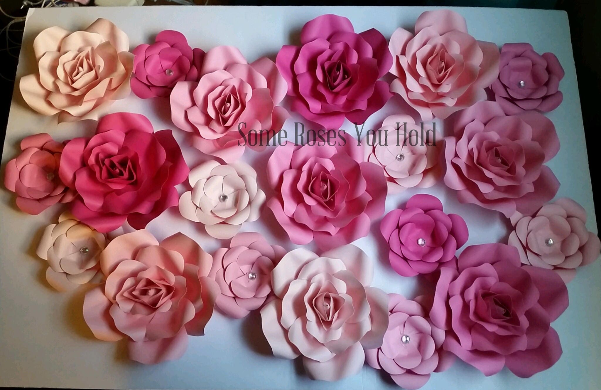 Pink Paper Flower Backdrop20pc Paper Flowers SetPaper