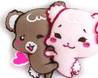 SURPRISE HUG Sugar Cubs plushie keychain (facebook sticker)