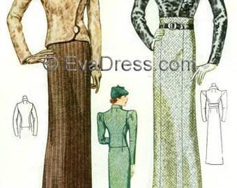 1933 Ensemble Pattern by EvaDress