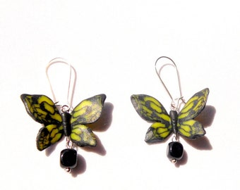 Butterfly earrings gift for her polymer clay jewelry summer jewelry insect jewelry butterfly jewelry insect earrings sister gift friend gift