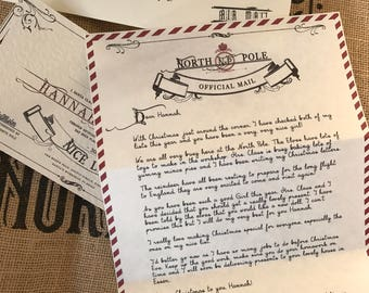 Santa telegram letter personalised christmas telegram with letter from santa personalised christmas santa letter with royal wax seal and envelope with spiritdancerdesigns Images