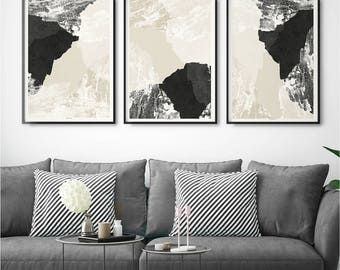 Set Of 3 Abstract Wall Art Prints