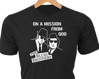 The Blues Brothers - On a Mission from God — Long Sleeve Option - classic vinyl album cover silhouette with Dan Aykroyd and John Belushi
