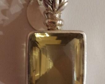 Lemon Topaz Sterling Silver Pendant
