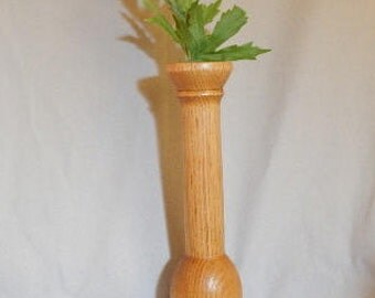 Easter gift, gift for women, wooden bud vase, wooden bud vase hand turned from butternut wood, wooden bud vase with glass tube insert