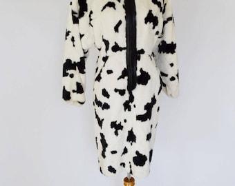 VTG Faux Fur Avant-Garde Dress by Anne Marie Beretta