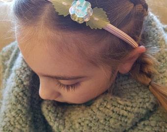 Valentine Flower Headband, Headbands, Headbands for Girls, Headbands for Women, Flower Girl Headband, Valentines Headband, Valentine Hair