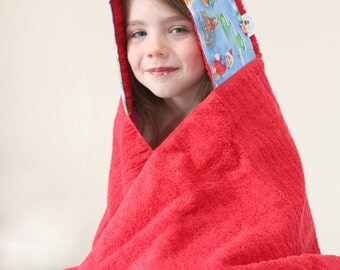 Hooded Towel - Personalized Gift - Towel Hoodie - Christmas Gift Ideas - Girls Hooded Towel - Unique Christmas Gifts - Christmas Presents