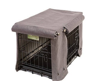 Washable Crate Covers - Denim Grey