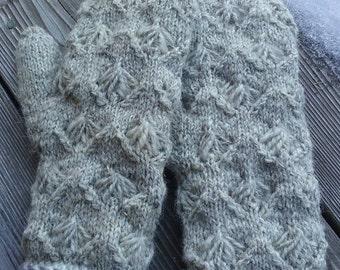 Hand Spun Alpaca Lined Mittens-Woman's Size
