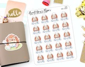 Cooking Planner Stickers - Chef Planner Stickers - Hedgehog Planner Stickers - Crazy Cat Lady Stickers - Character Sticker - 1220