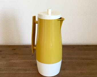 Vintage Aladdin's Beverage Butler Glass Insulated Thermos Pitcher; Mid Century Kitchen; Insulated Glass Pitcher; Retro Thermos; One Quart