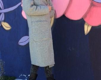 NEW Cashmere Coat / Winter Coat / Grey Coat / Warm Coat / Elegant Coat / Wool Coat by FabraModaStudio / FAB006