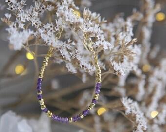 Amethyst Bracelet, Amethyst Beaded Bracelet, Boho Luxe Jewelry, Boho Bead Bracelet, Amethyst Boho Bracelet, Boho GIfts, Gift for Her