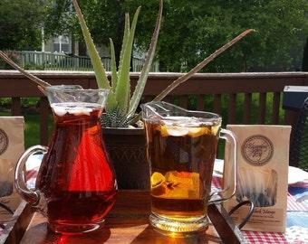 Black Iced Tea - Cold Brew Iced Tea - Cold Brew Kit - Iced Tea - Cold Brew Bag - Sweet Tea - Sweet Tea Bar - Loose Tea Set - Caffeine