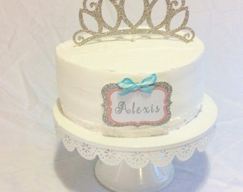 Birthday Cake With Name Tag ~ Cinderella cake topper cinderella inspired carriage cake