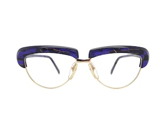 Genuine 1980s Alain Mikli AM88 619 327 Vintage Cateye Glasses // Hand Made in France // New Old Stock
