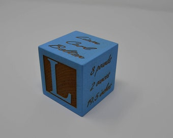 Personalized Baby Block New Baby Gift Newborn Baby Gift Personalized Baby Gift Newborn Gift Wooden Baby Block