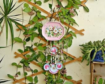 Windchimes, Metal Wind Chimes, Garden Decor, Summer Outdoors, Outdoor Decor, Patio Decor, Yard Decor, Kitchen Shabby Windchime, Garden Art