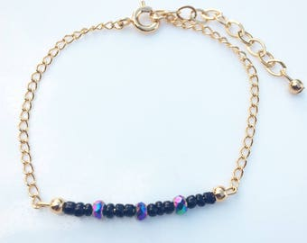 Iridescent Seed Bead Bracelet
