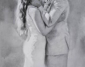 Romantic drawing | Etsy