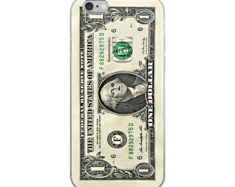 Quirky dollar bill iPhone case, an unusual, funny, humorous gift of money