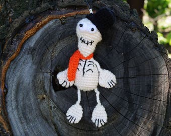 halloween party crochet toy halloween gift halloween charm halloween ornament skeleton decoration crochet halloween cute skeleton