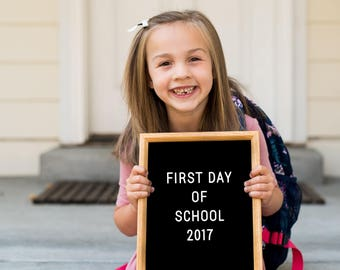 First Day of School Sign, First day of School Printable, First Day Photo, Back to School, Letterboard Sign, Photo Prop Instant Download