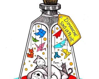 "Illustration ""Sunday in the rain"" by Cozaz"