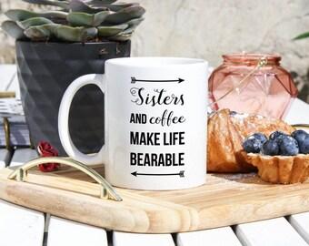 Sister Coffee Mug - Gifts For Sister - Sister Gifts - Sister Birthday Gifts- Sister Long Distance Gifts -Christmas Sister Gift - Sister Mugs